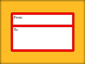 envelope and mailing label with space for two addresses